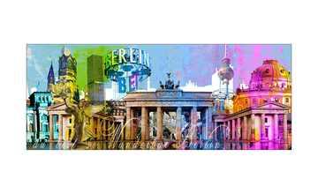 Glasbild 80x30 cm  Berlin bei Tag