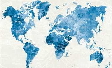 """Kunstleinwand  """"Worldmap"""""""