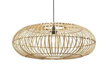 HOME STORY Pendelleuchte mit Holzlamellen 1-flammig