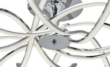 Paul Sommerkamp Leuchten LED-Deckenleuchte, mit geschwungenen Armen