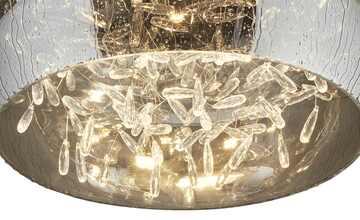 HOME STORY LED-Deckenleuchte, Rauchglas mit Acryltropfen