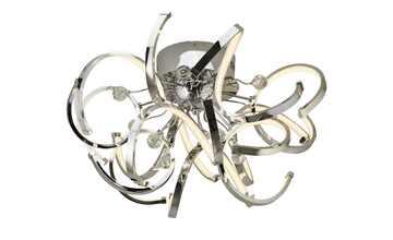 KHG LED-Deckenleuchte, Chrom mit Kristall