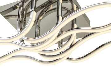 Meisterleuchten LED-Deckenleuchte, Chrom, Wellenform