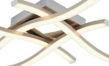 LED-Deckenleuchte, 4-flammig, Nickel matt