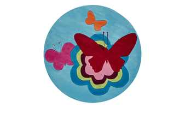 Esprit Handtuft-Teppich  Butterflies