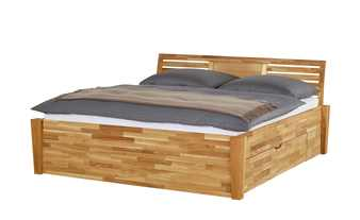 Massivholz-Bettgestell 140x200 - Wildeiche Timber