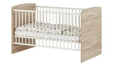 Kinderbett 70x140 weiß - Eiche Betty