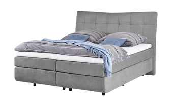 Boxspringbett 180x200 - grau King