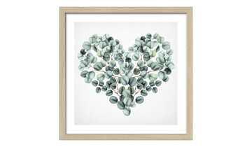 Gerahmtes Bild Slim-Scandic  Eucalyptus Heart