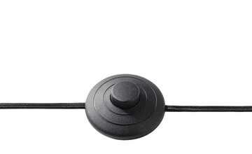 Stehleuchte, 1-flammig, Metall Schwarz / Gold