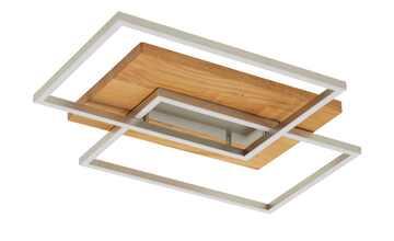 LED-Deckenleuchte, 2-flammig, Eiche natur