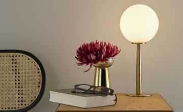 KHG LED-Tischleuchte, 1-flammig, Messing matt