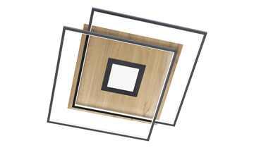 Q-Smart Home Lights Deckenleuchte, 3-flammig, Holzdekor `eckig´