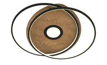 Q-Smart Home Lights Deckenleuchte, 3-flammig, Holzdekor `rund`