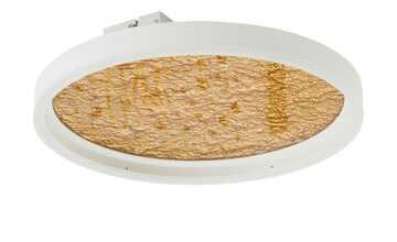 Wofi LED Deckenleuchte, weiß / goldfarben ´klein´