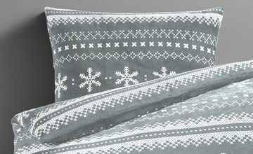 LAVIDA Flanell-Fleece-Bettwäsche  Snowflake