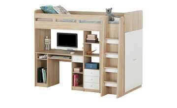 Hochbett mit Kleiderschrank und Schreibtisch  Unit