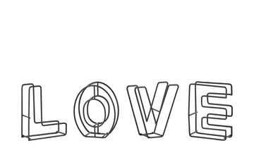 Deko-Schriftzug  Love