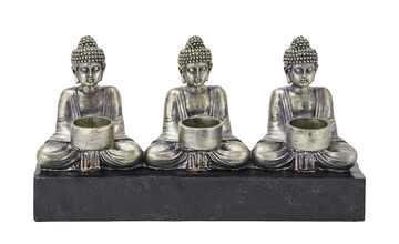 3er-Teelichthalter  Buddha