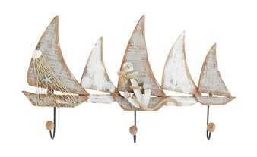 Wandgarderobe  Segelboote