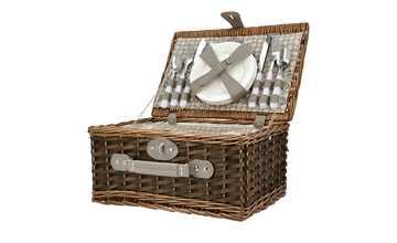Picknickkorb mit Geschirr
