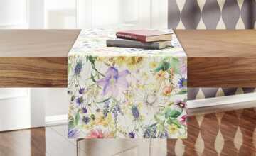 LAVIDA Tischläufer  Blumenparadies