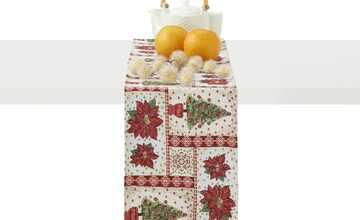LAVIDA Tischband  Goblin Weihnachtsstern