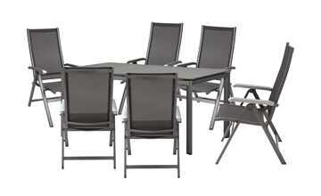 Garten-Sitzgruppe, 7-teilig  Amico