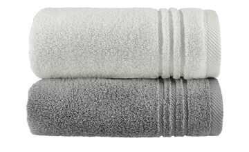 Handtuch (50 x 100cm), 2er-Set Anthrazit-Hellgrau  Soft Cotton