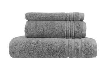 Handtuch-Set Anthrazit, 3-teilig  Soft Cotton