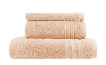 Handtuch-Set Hellorange, 3-teilig  Soft Cotton