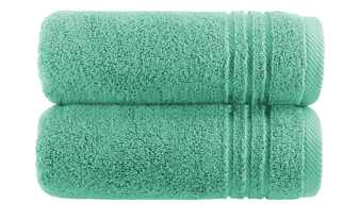 Handtuch (50 x 100cm), 2er-Set Minze  Soft Cotton