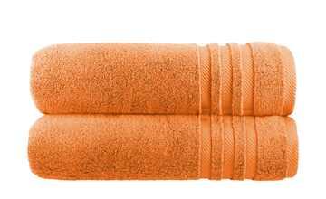 Badetuch (100 x 150cm), 2er-Set Orange  Soft Cotton