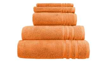 Handtuch-Set Orange, 5-teilig   Soft Cotton