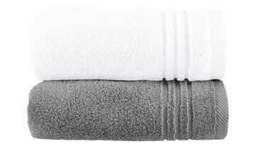 Handtuch (50 x 100cm), 2er-Set Anthrazit-Weiß  Soft Cotton