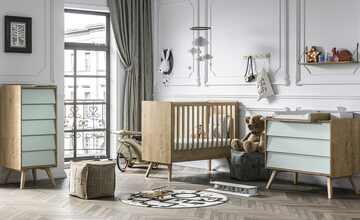 Babyzimmer, 4-teilig  Vintage Baby