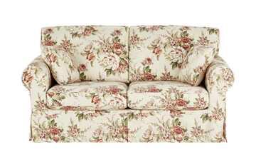 SOHO Sofa 2,5-sitzig mit Husse creme/rosa - Webstoff Chaneel