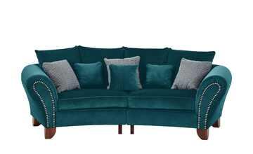 smart Big Sofa petrol - Mikrofaser Nadja