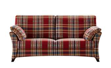 8f6eb5c2d251c1 Sofa 2-sitzig rot/kariert - Webstoff Mikado | 2-Sitzer