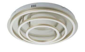 Meisterleuchten LED-Deckenleuchte, 2-flammig, chrom ´3 Ringe´