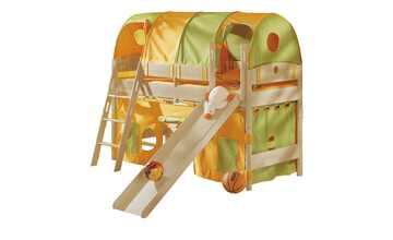 PAIDI Spielbett mit Rutsche 90x200 Birke Fleximo