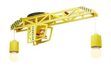 Deckenleuchte Turmdrehkran, gelb