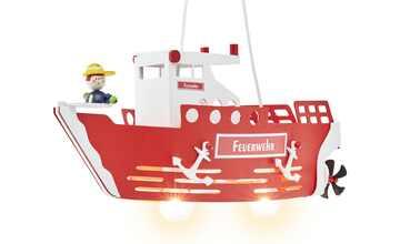 Pendelleuchte, 2-flammig `Feuerwehrschiff`