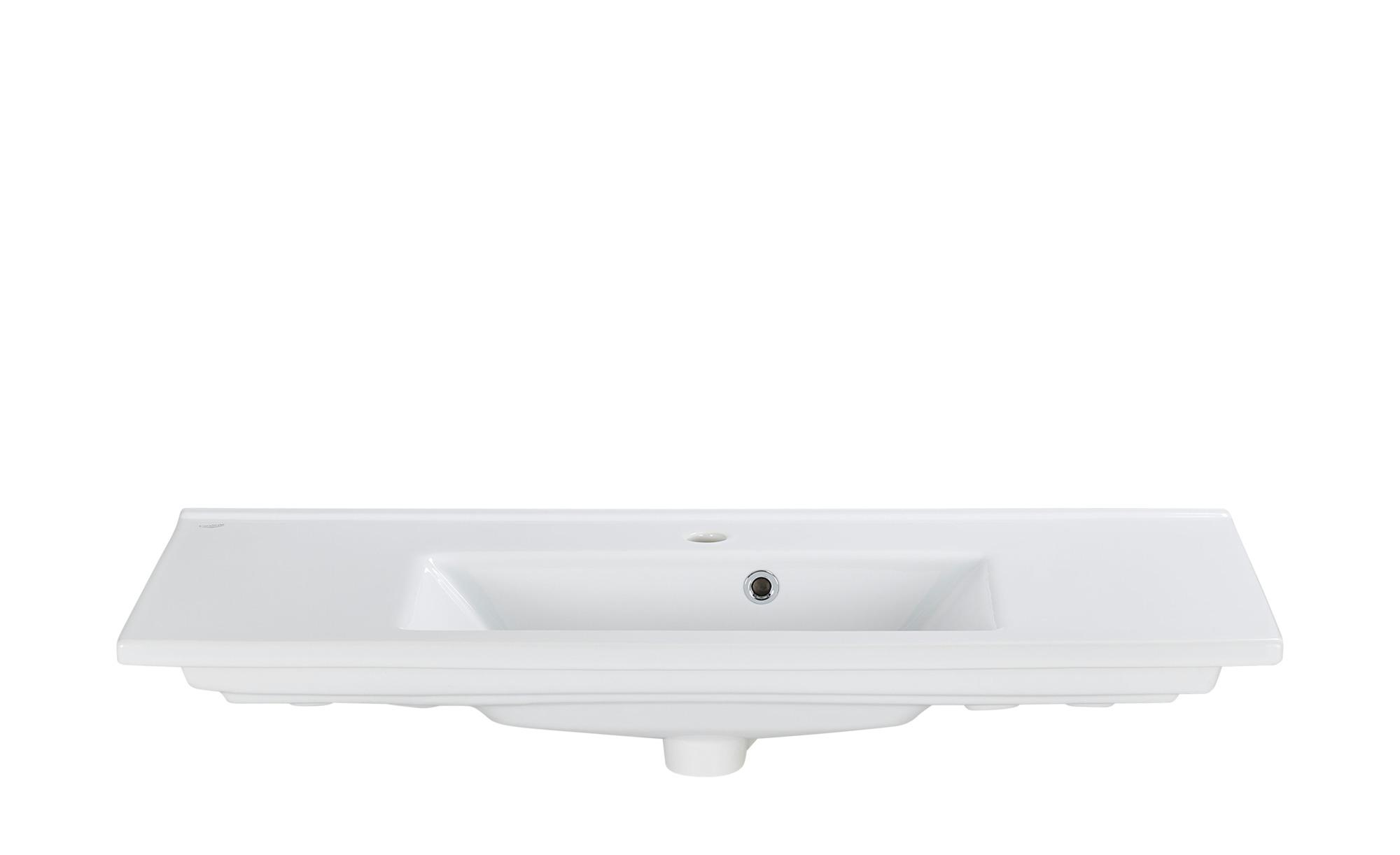 smart Bad-Keramik-Waschtisch Onda - 100 cm - 2 cm - 45 cm - Schränke >  Badschränke > Sanitär-Armaturen - Möbel Kraft