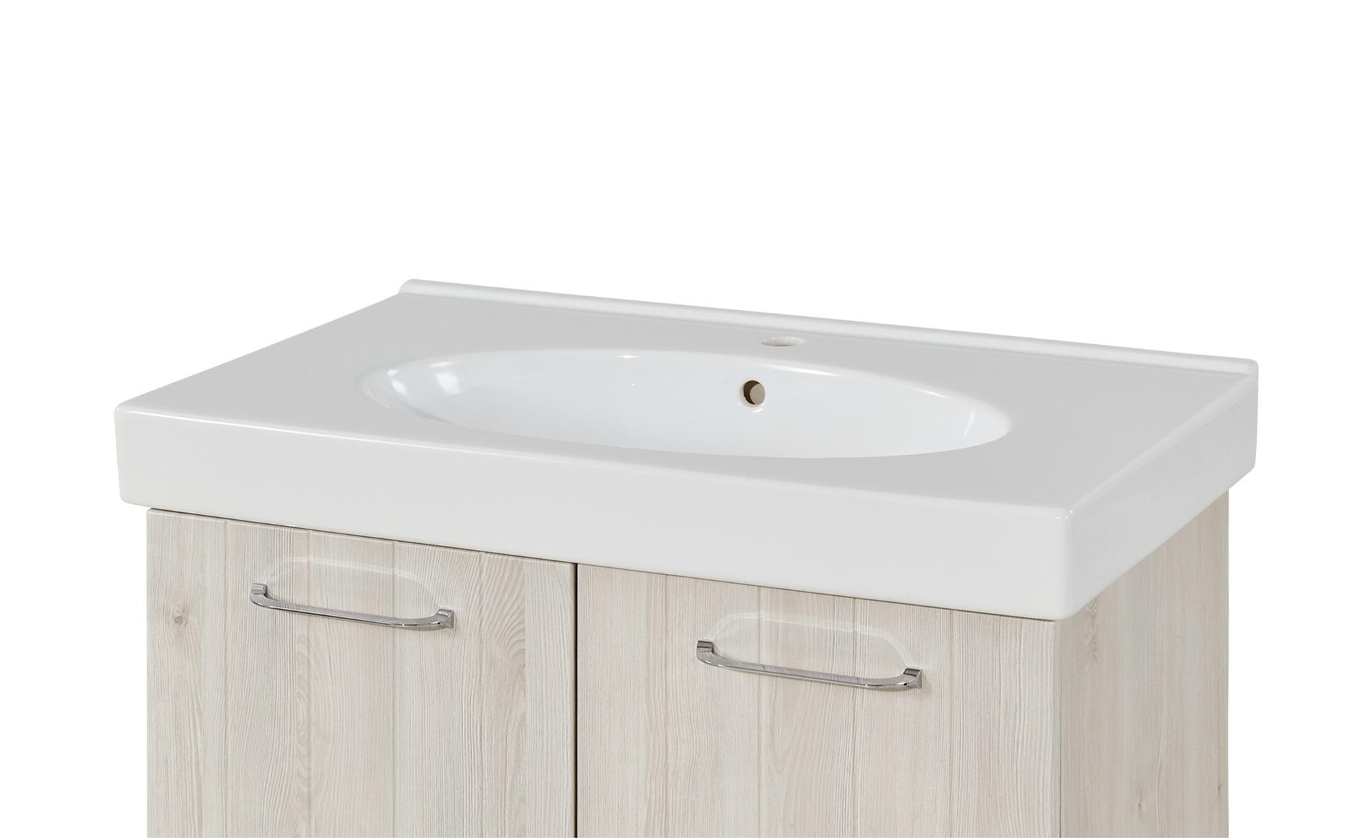 calmo2go Waschtisch - weiß - 80 cm - 7 cm - 48 cm - Schränke > Badschränke  > Sanitär-Armaturen - Möbel Kraft