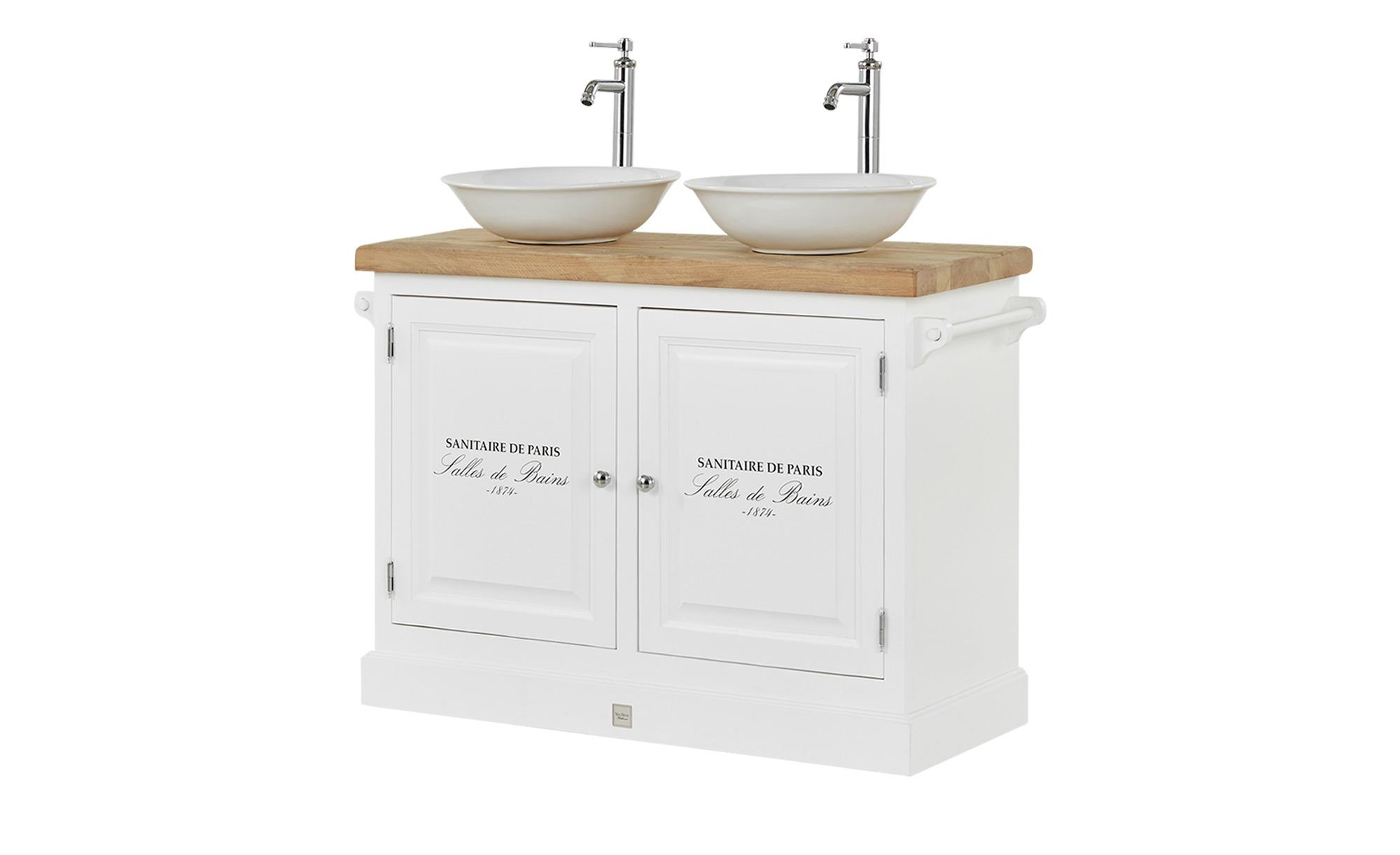 VAN HECK Bad-Doppel-Waschtischkombination Colonialsee ¦ weiß ¦ Maße (cm):  B: 120 H: 96 T: 59 Schränke > Badschränke > Waschbeckenunterschränke ...