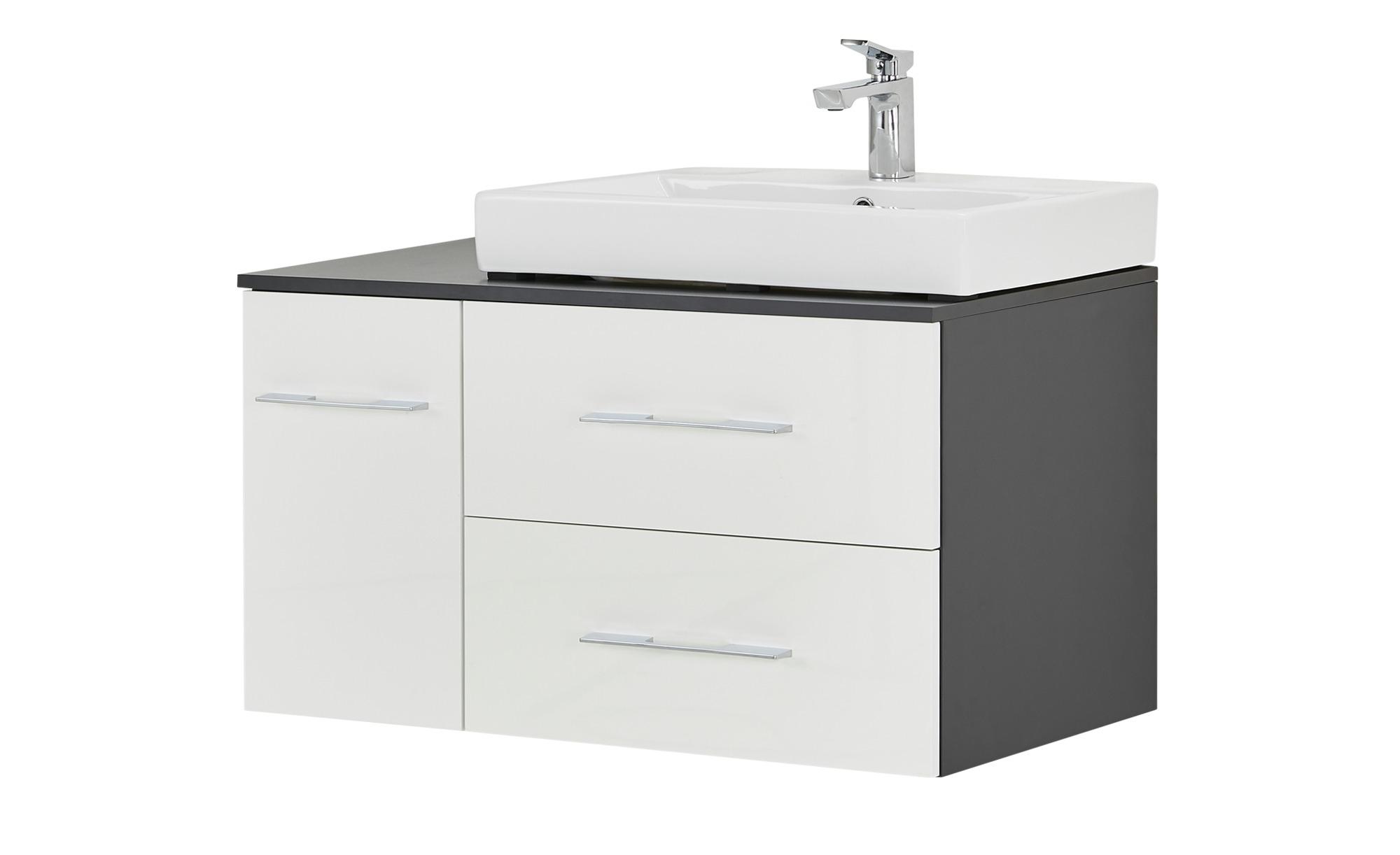 Waschtischkombination Eibsee ¦ weiß ¦ Maße (cm): B: 90 H: 60 T: 49,5  Schränke > Badschränke > Waschbecken-unterschränke - Höffner