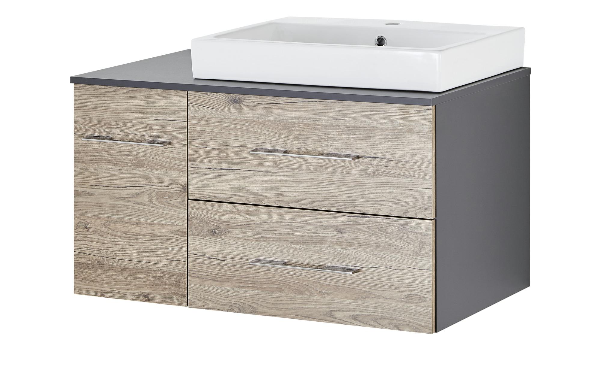 Waschtischkombination Eibsee ¦ holzfarben ¦ Maße (cm): B: 90 H: 60 T: 49,5  Schränke > Badschränke > Waschbecken-unterschränke - Höffner