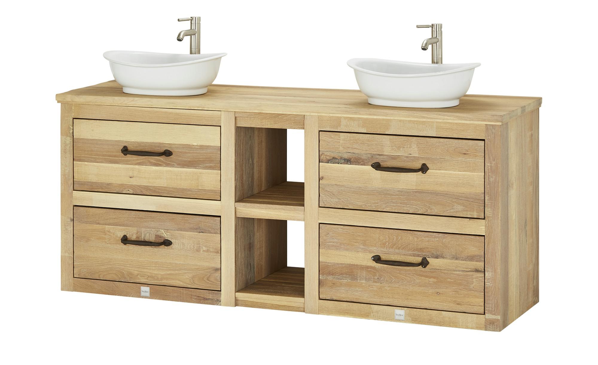 VAN HECK Waschtischkombination - holzfarben - 193 cm - 100,5 cm - 51,5 cm -  Schränke > Badschränke > Komplett-Badkombinationen - Möbel Kraft