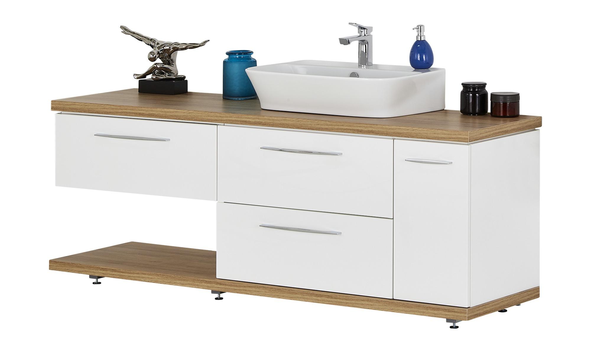 Waschtischkombination mein Bad ¦ weiß ¦ Maße (cm): B: 182 Schränke >  Badschränke > Waschbecken-unterschränke - Höffner